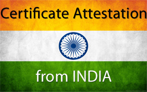 certificate attestation india