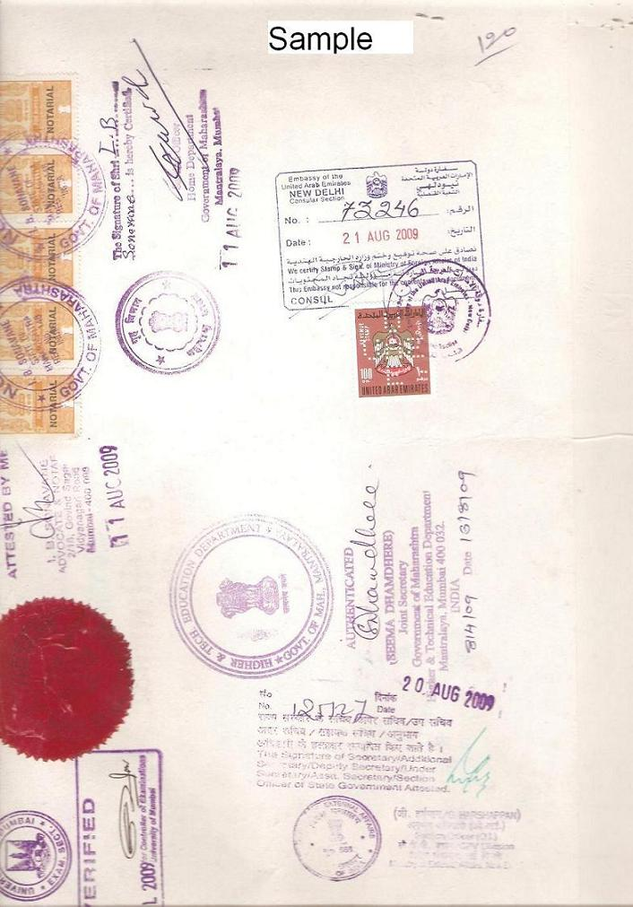 India certificate attesation